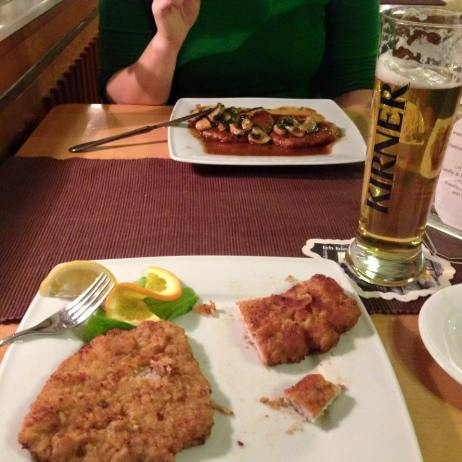 Various schnitzels.