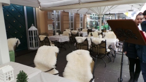 These chairs are wearing fur. How great is that?