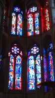 I wish photos could truly capture the amazing stained glass.